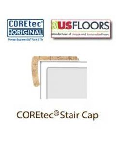 "Amalfi Beige Stair Cap Molding for 50LVT101 | Amalfi Beige COREtec 24"" x 12"" Tiles Collection by US Floors"