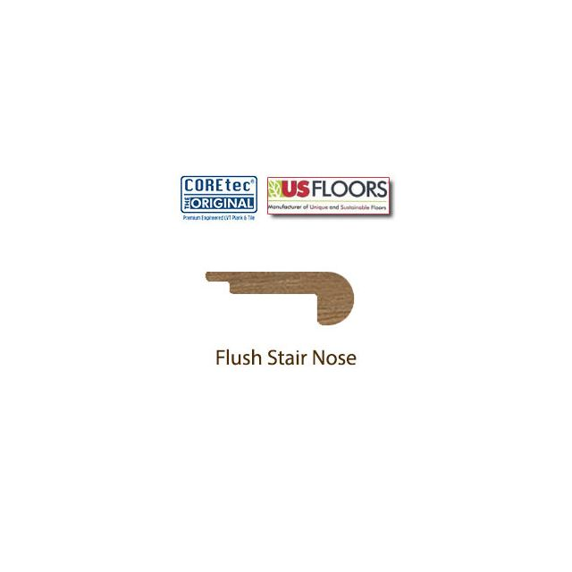 "Flush Stair Nose Molding | LVP507 | Dakota Walnut COREtec 5"" Collection by US Floors"