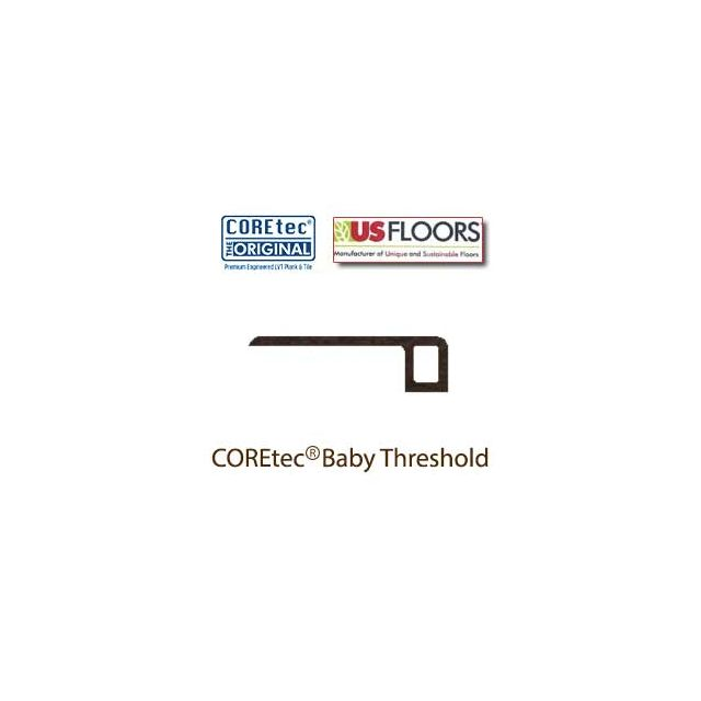 "Mission Oak Baby Threshold Molding for 50LVP607 | Mission Oak COREtec 9"" Collection by US Floors"