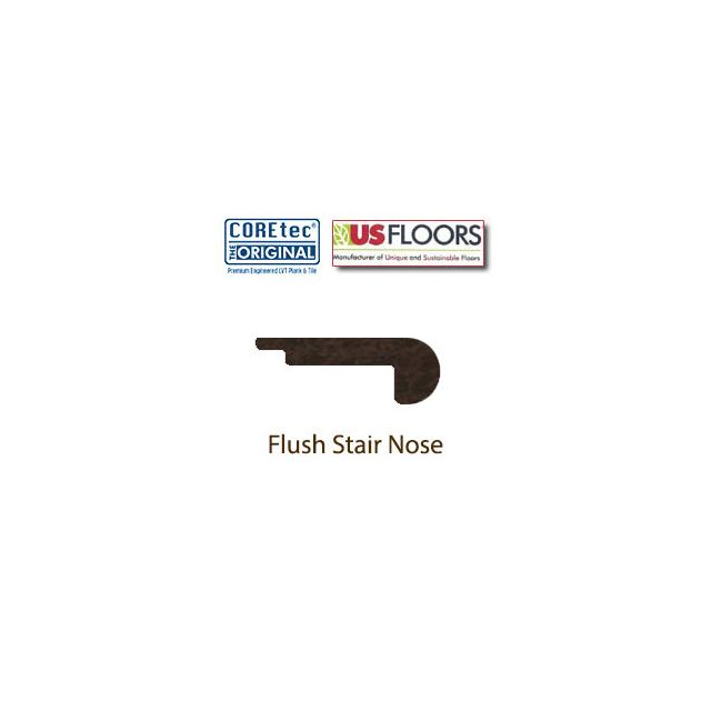 Flush Stair Nose Molding | 50LVP607 | Mission Oak COREtec XL Collection by US Floors®