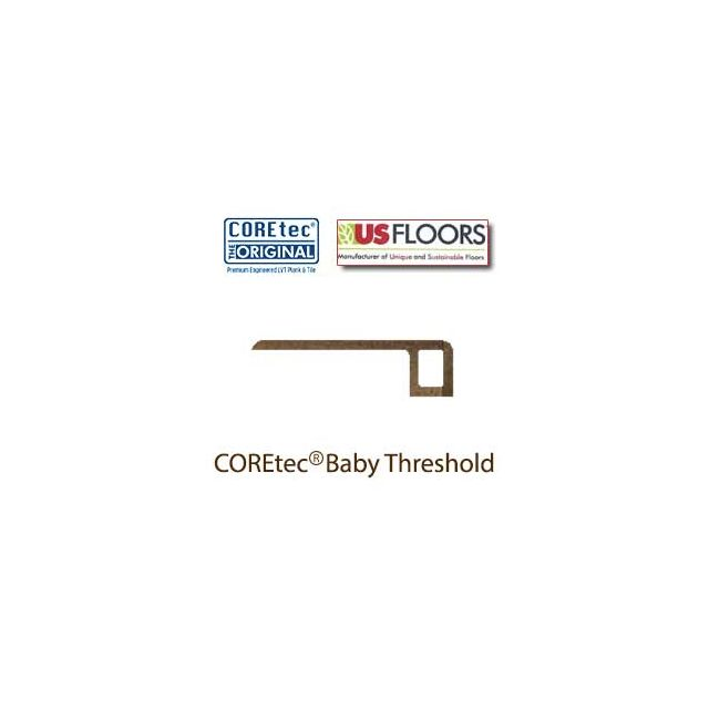 "Catalina Oak Baby Threshold Molding for 50LVP612 | Catalina Oak COREtec 9"" Collection by US Floors"