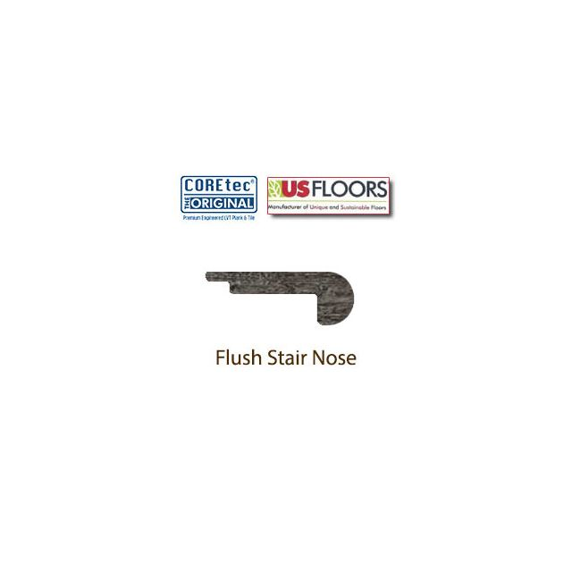 "Flush Stair Nose Molding | 50LVP701 | Georgetown Oak COREtec 7"" Collection by US Floors®"""