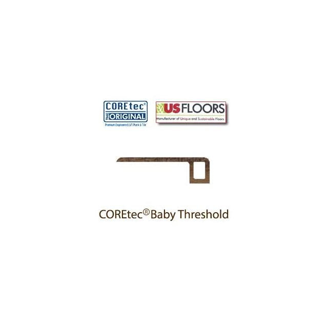 "Margate Oak Baby Threshold Molding for 50LVP702 | Margate Oak COREtec 7"" Collection by US Floors"