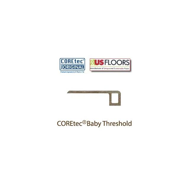 "Blackstone Oak Baby Threshold Molding for 50LVP707 | Blackstone Oak COREtec 7"" Collection by US Floors"