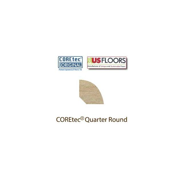 "Ankara Travertine Quarter Round Molding for 50LVT104 | Ankara Travertine COREtec 24"" x 12"" Tiles Collection by US Floors"
