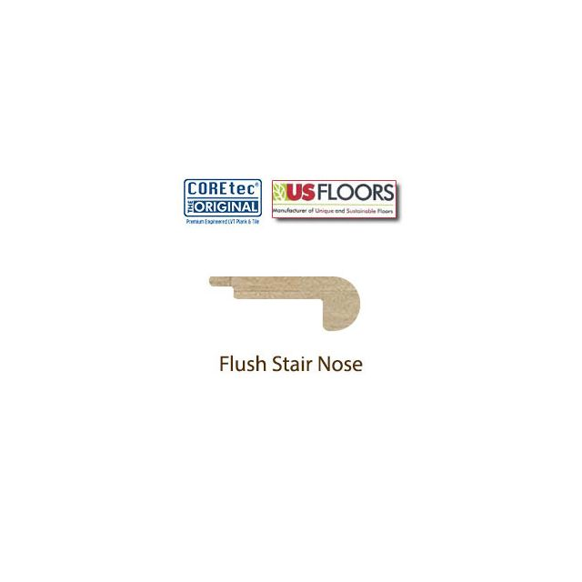 Flush Stair Nose Molding for 50LVP104 Ankara Travertine by US Floors.