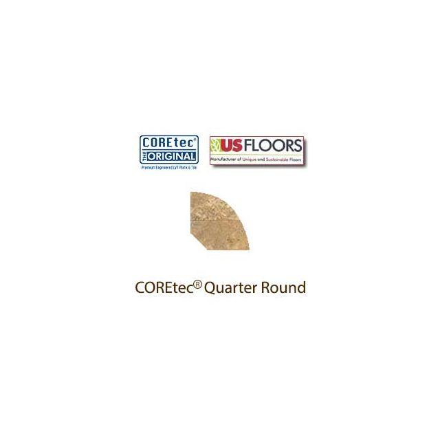 "Noce Travertine Quarter Round Molding for 50LVT105 | Noce Travertine COREtec 24"" x 12"" Tiles Collection by US Floors"