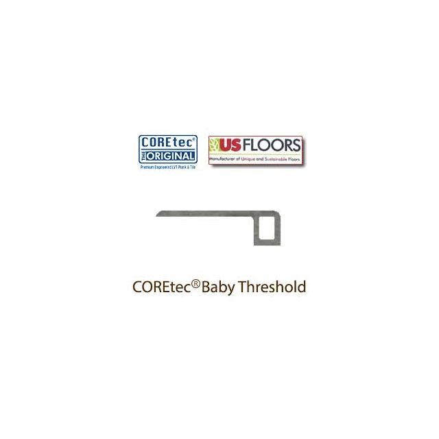 """Weathered Concrete Baby Threshold Molding for 50LVT1803   Weathered Concrete COREtec 24"""" x 18.5"""" Tiles Collection by US Floors"""