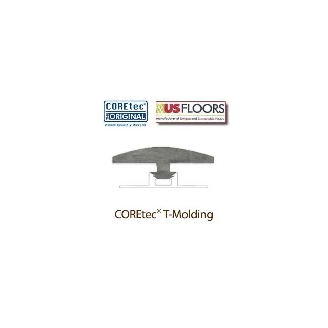 """Weathered Concrete T-Molding for 50LVT1803   Weathered Concrete COREtec 24"""" x 18.5"""" Tiles Collection by US Floors"""