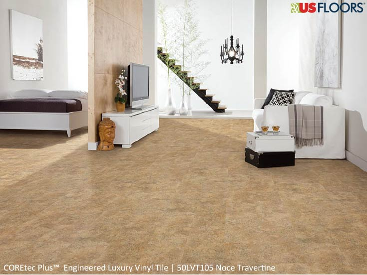 Noce Travertine floor by USFloors® from the COREtec Plus (USF) collection | SKU:50LVT105