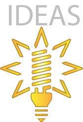 Light Bulb Icon Links to Ideas Gallery